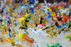 Glass work of tiny figures of animals Stock Photo