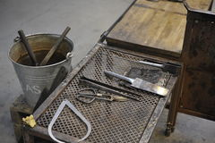Glass workshop Stock Images