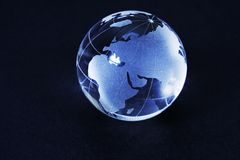 Glass world globe Stock Images