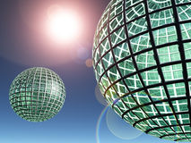 Glass World Spheres Royalty Free Stock Images