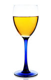 Glass of yellow drink isolated Royalty Free Stock Photography
