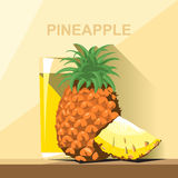 A glass of yellow pineapple juice Royalty Free Stock Photo