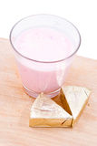 Glass of yoghurt Stock Image