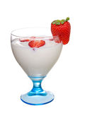 Glass of yoghurt Stock Images