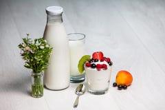 Glass of yogurt Stock Image