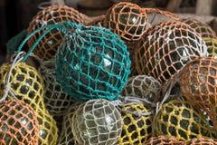 Glassballs in het net Stock Fotografie