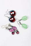 Glassbead Earrings Stock Photos