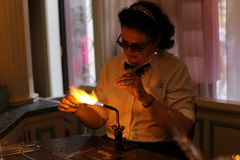 Glassblower in Paris Disney. Land Park Stock Photo