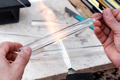 glassblower ręki obrazy stock
