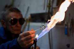 Glassblower Stock Photo