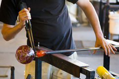 Glassblowing Detail Stock Image