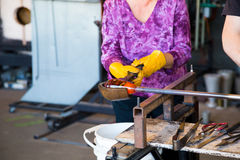 Glassblowing Detail Royalty Free Stock Image