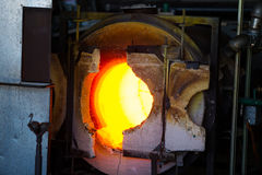 Glassblowing Furnace Stock Photography