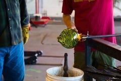 Glassblowing Men Stock Photo