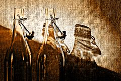Glassbottles vazio Fotografia de Stock Royalty Free