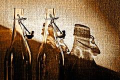 Glassbottles vuoto Fotografia Stock Libera da Diritti