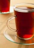 Glasschale mit frischem Tee Stockfotos