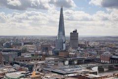 Glasscherbe, London-Ansicht Stadt von London eins der führenden Mitten der globalen finance Stockfoto
