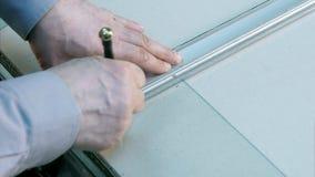 Glasschneider-Werkzeugschnitt Stockbild