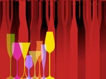 Glasse aan alcohol stock illustratie