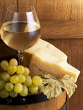 Glasse of white wine Stock Photos