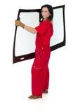 Glasser mit der Windschutzscheibe und weißen Hintergrund des Windfanges oder Lizenzfreie Stockbilder