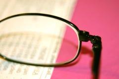 Glasses. Macro shot of glasses royalty free stock images