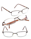 Glasses. Brown glasses isolated on white Royalty Free Stock Image