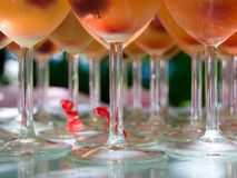Glasses. Some champagne glasses ready to be served Royalty Free Stock Photography