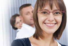 In glasses Stock Image