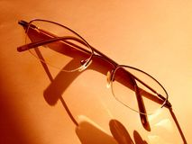 Glasses. On the background (isolated royalty free stock images
