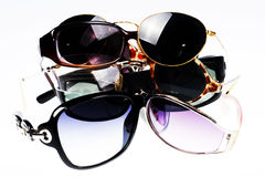 Glasses. Nabor of antisun glasses of different times Royalty Free Stock Photography