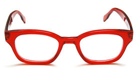 Glasses. Photo of red glasses on white background royalty free stock photos
