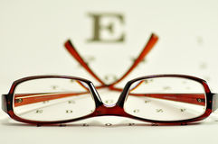Glasses. A pair of reading glasses stock image