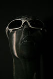 Glasses. Artistic bust with sunglasses stock photos