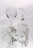 Glasses. Wine  glasses with water and reflection Stock Photo