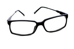Glasses. Reading optical glasses black frame on white background Stock Images