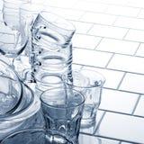Glasses. Glass series on kitchen tile Royalty Free Stock Photo