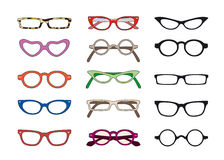 Glasses. Different models of color glasses Royalty Free Illustration