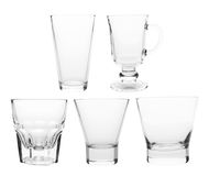 Glasses. Glass collection isolated on a white background Stock Photography