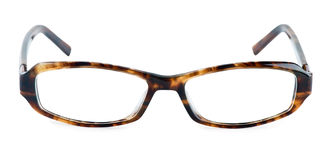 Glasses. Frame on white background Stock Photography