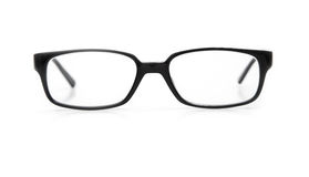 Glasses. Black glasses on a white background Royalty Free Stock Images
