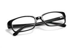 Glasses. Black glasses on a white background Stock Photography