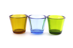 Glasses. Tree colour of glasses Royalty Free Stock Images