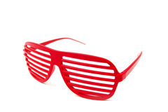 Glasses. Red glasses on a white background stock image