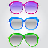 Glasses 3. Illustration of a set of sunglasses in different colors Royalty Free Stock Photo