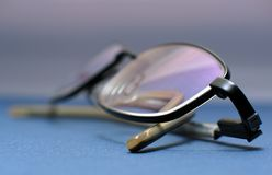 Glasses. Close-up shot - modern glasses Royalty Free Stock Photography