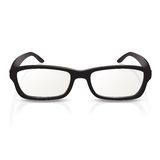 Glasses. Vector image of photorealistic black  big glasses Stock Images