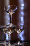Glasses. For champagne ceremony for a wedding banquet Royalty Free Stock Photos