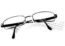 Glasses. Lying on the book Royalty Free Stock Photos